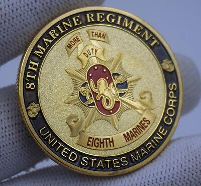 MARINE CORPS 8TH MARINE REGIMENT COIN MILITARY CHALLENGE COIN U.S