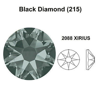 JET HEMATITE metallic black Swarovski 2058//2088 Flatback Rhinestones *All Sizes