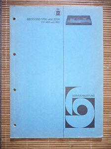 Service-manual Bang&olufsen Beocord 1700,type 4603,beocord 2200,original Anleitungen & Schaltbilder