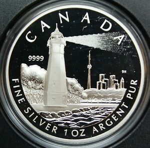 2005 Canada 20 Silver 1oz 9999 Gibraltar Point Lighthouse Collection Box Amp Coa Ebay