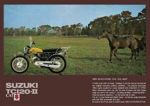 SUZUKI Brochure TC120 TC120-II Cat 1971 Sales Catalog Catalogue REPRO