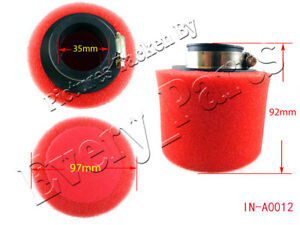 Details about Red 35mm Performance Foam Air Filter Honda XR50 CRF50 110cc  125cc 150cc GY6 Bike