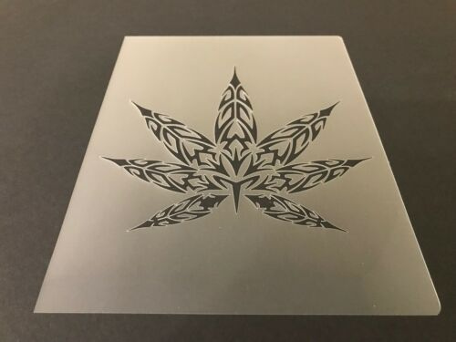 Pot Leaf #2 Stencil 10mm or 7mm Thick Crafts Weed Airbrushing! Marijuana