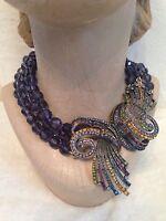 Heidi Daus Purple Bead Necklace - irresistibly Yours