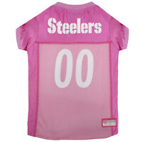 Pittsburgh Steelers Pink Nylon Female Dog Jersey Xs Size Pet's First