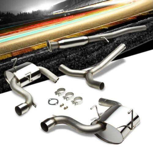 """3.00/"""" Dual Muffler Tip Stainless Catback Exhaust Kit For Mini 02-06 Cooper S Mk1"""
