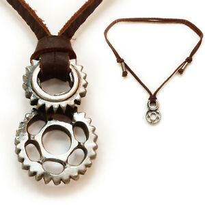 collier pendentif homme cuir
