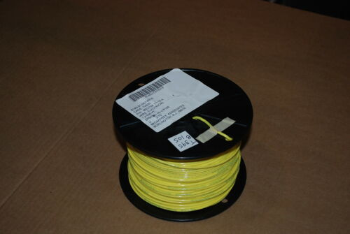 MIL SPEC WIRE M22759//11-12-4  SILVER PLATED 12 AWG  50 FT YELLOW NEW