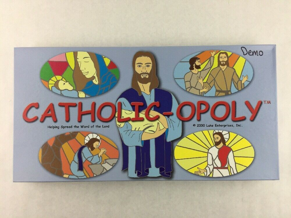 Catholic-opoly Board Game By Luke Enterprises Complete Sealed Pieces