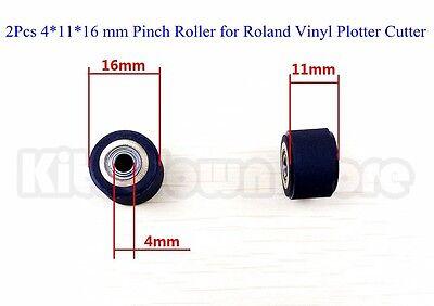 2Pcs 4mmx11mmx16 mm Pinch Roller for Roland Vinyl Plotter Cutter US New