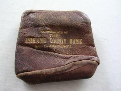 Vintage Very Rare Coin Purse From Ashland County Bank Butternut Wis Wi Wisconsin Historical Memorabilia