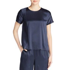 Eileen-Fisher-Womens-Navy-Silk-Striped-Pajama-Top-Shirt-XS-BHFO-4388