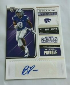 huge selection of 8ec35 1cc45 Details about 2018 Panini Contenders Draft Picks Byron Pringle College  Ticket Auto Rookie RC