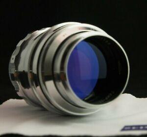 "Tair-11, KMZ, Red ""P"", 2.8/133, M39. (Zenit mount) ""Silver"". 20 petal aperture"