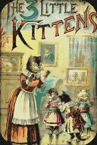 Image Is Loading Vintage Three Little Kittens Nursery Rhyme Digital Counted