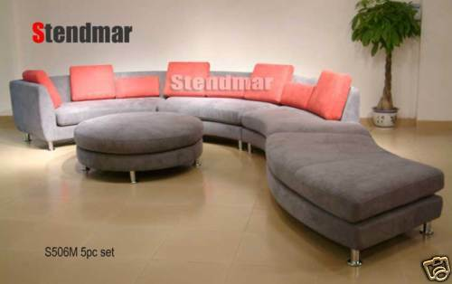5PC MODERN ROUND SECTIONALS LEATHER SOFA S506BN for sale online | eBay
