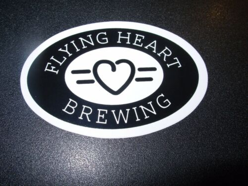FLYING HEART BREWING Louisiana Oval STICKER label decal craft beer brewery