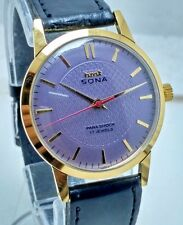 VINTAGE HMT SONA HAND WINDING 17J  WATCH WATER RESISTANT IN PERFECT CONDITION.