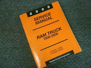 2000-Dodge-Ram-2500-Pickup-Truck-Shop-Service-Repair-Manual-Work-ST-SLT