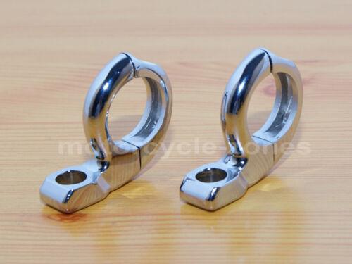 "1/"" Handlebar Turn signal Mirror Clamps mount Harley Dyna Sporster Softail Bobber"