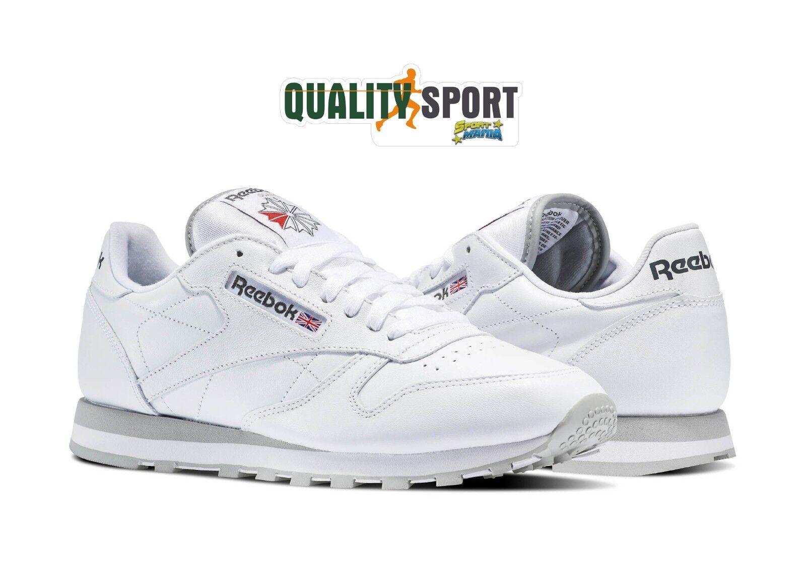 Reebok Classic Leather Sportive Bianco Zapatos Zapatos hombre Sportive Leather Sneakers 2214 2018 793153