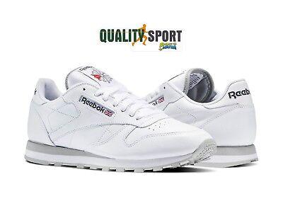 Reebok Classic Leather Bianco Scarpe Shoes Uomo Sportive Sneakers 2214 | eBay