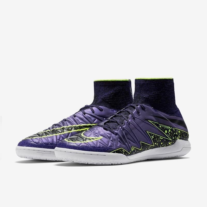 Nike HypervenomX Proximo IC Soccer Cleats Hyper Grape Purple 11 747486-505 NWOB