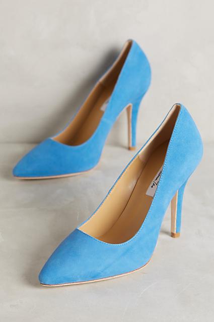 designer online NWB Anthropologie Vanessa Tao Tao Tao Pointed Suede Pumps - blu Heels - 37 Euro 6.5 US  negozio a basso costo