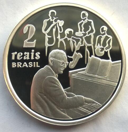Brazil 2003 Ary Barroso 2 Reais Silver Coin,Proof