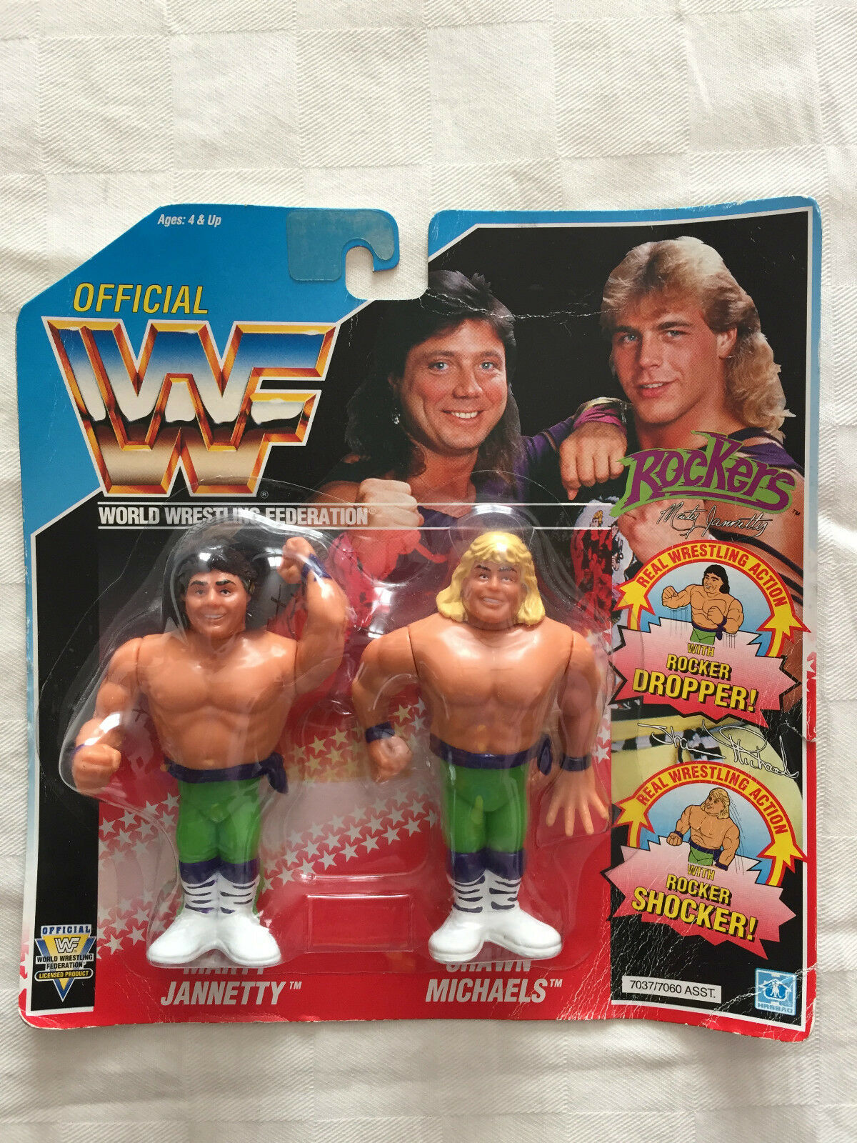 WWF HASBRO THE ROKERS MOC NEW