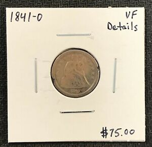 1841-O-U-S-SEATED-LIBERTY-DIME-VERY-FINE-DETAILS-2-95-MAX-SHIPPING-C1723