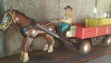 VINTAGE TIN TOY COUNTRY HORSE CHINA ME 641 ST-1 BATTERY OPERATED 1960'S WORKS