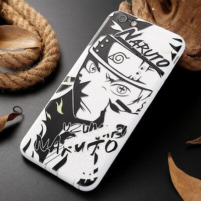Cool Black White Naruto Sasuke Kakashi Soft Phone Case For iPhone X 6S 7 8 Plus