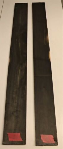 African Ebony Fingerboards for Bass guitar 725mm x 75mm x 9mm