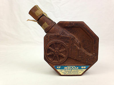 Jim Beam 1795 Cannon Whiskey Decanter 1970 Bonded Bronze Bottle Made Empty