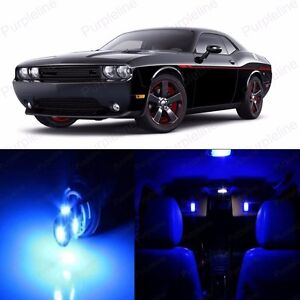 7 X Super Blue Led Interior Light Package Kit For Dodge Challenger 2008 2014 Ebay