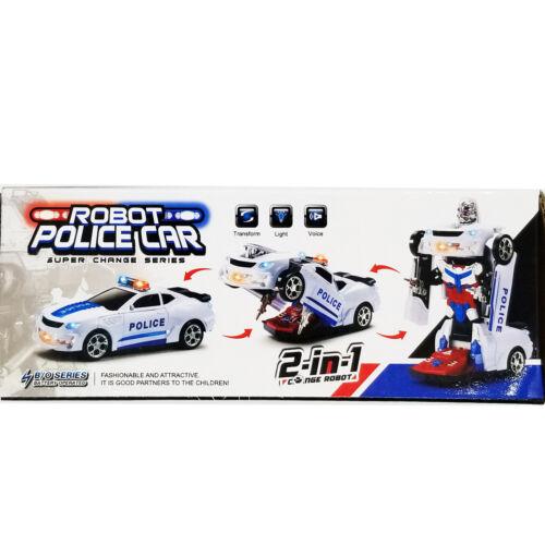 Bump /& Go Light Up DEL Autobot Transformateur Robot voiture camion jouet ACTION SOUND