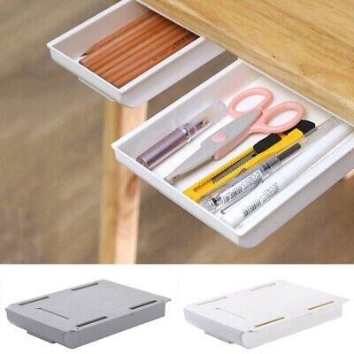 Table Storage Box Large Capacity Drawer Self-Adhesive Organizer Pen Holder Tools