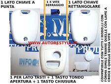 COVER GUSCIO BIANCO PER CHIAVE TELECOMANDO 2 TASTI PEUGEOT 206 107 207 307