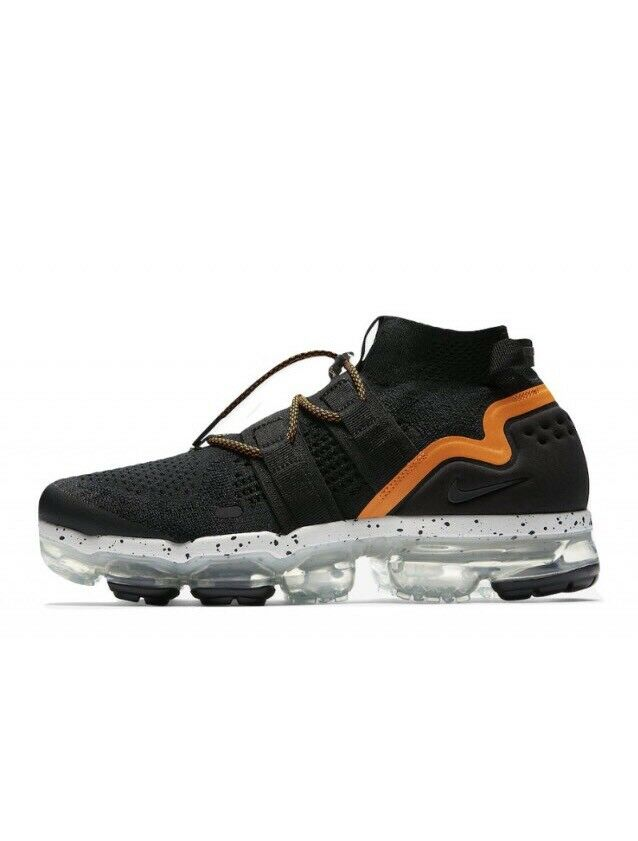 Nike Air VaporMax Utility Black orange Peel AH6834-008 w Receipt Size 9-13