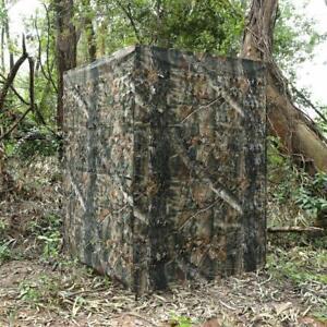 Portable Hunting Blind Roll Up Run N Gun Turkey Duck Deer Brown Leaf Camouflage