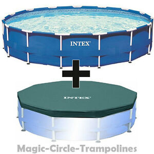 Intex metal frame swimming pool schwimmbecken schwimmbad for Swimmingpool abdeckplane