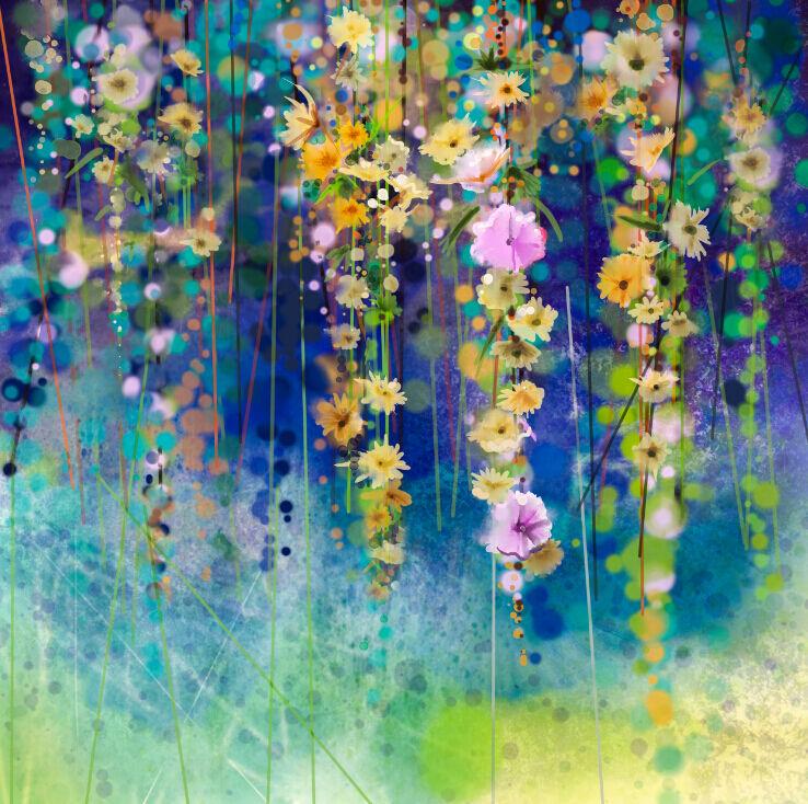 3D vigne Fleur 7 Photo Papier Peint en Autocollant Murale Plafond Chambre Art