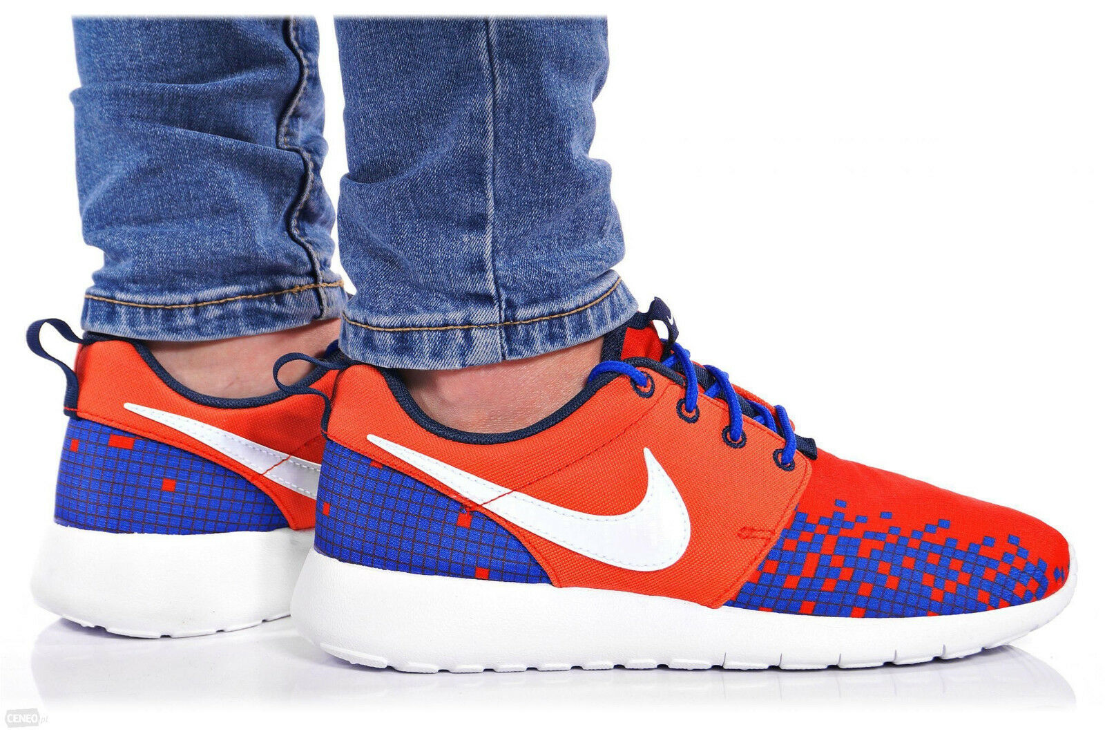 Damenschuhe Nike Nike Damenschuhe Roshe One Print GS Gr:37,5 Presto Moire Sneaker 677782-601 blau-rot 6a109c