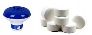 CHLORINE-TABLETS-MULTIFUNCTIONAL-FOR-SWIMMING-POOL-HOT-TUB-10x20g-DISPENSER