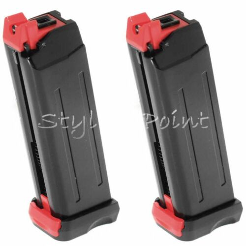 Airsoft Web APS 2pcs 18rd Co2 Magazine for Steel SHARK .177 Cal 4.5mm BB Black