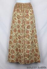 Vtg Saks Fifth Avenue Anne Klein Maxi Skirt Country Prairie Floral Boho Gypsy 14