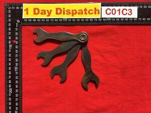 Vintage-Terrys-526615-set-of-4-spanner-set-1-4-034-9-32-034-3-8-034-7-16-034-AF