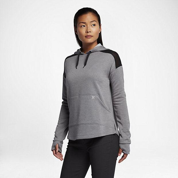 5510f449c504 Buy Hurley Nike Dri-fit United Fleece Womens Hoodie Pullover Cool Grey Sz.s  online