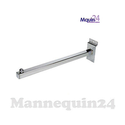 """CHROME 12/"""" SQUARE TUBING STRAIGHT FACEOUT 24 Pieces"""